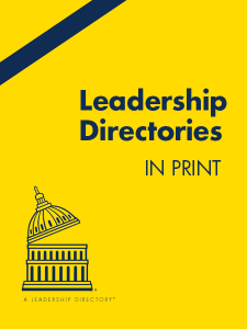 Leadership Directories in Print- Yellow Books