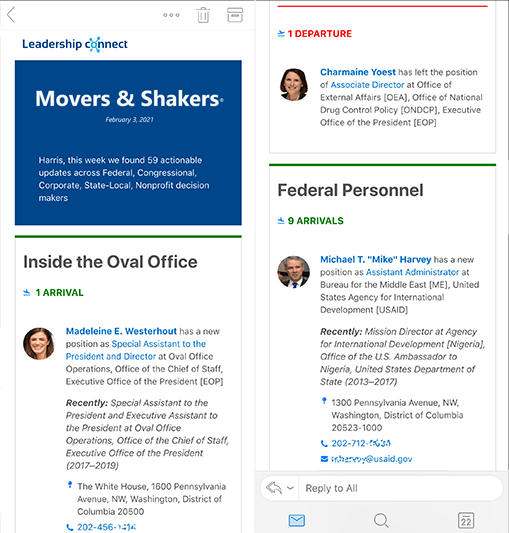 Movers & Shakers Briefing